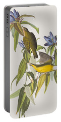Connecticut Warbler Portable Battery Charger by John James Audubon