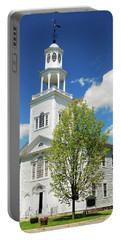 Country Church Portable Battery Charger by James Kirkikis