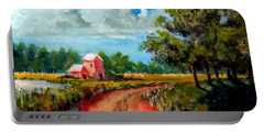 Country Lane Portable Battery Charger by Jim Phillips