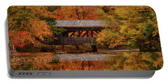 Covered Bridge At Sturbridge Village Portable Battery Charger