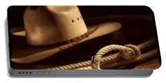 Cowboy Hat And Lasso Portable Battery Charger