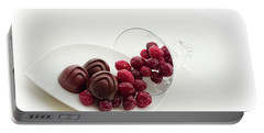 Cranberry Chocolate Portable Battery Charger by Sabine Edrissi