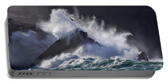 Crashing Wave At Clogher Portable Battery Charger
