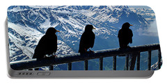 Crows On Top Of Mount Titlis - Switzerland Portable Battery Charger