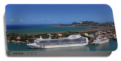 Portable Battery Charger featuring the photograph Cruise Port by Gary Wonning