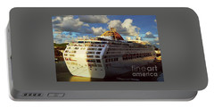 Cruise Ship In Port Portable Battery Charger by Gary Wonning
