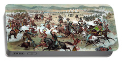Portable Battery Charger featuring the painting Custer's Last Stand by War Is Hell Store