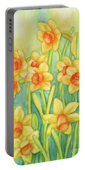 Daffodils In Yellow Portable Battery Charger