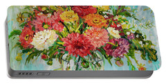 Dahlias Portable Battery Charger by Alexandra Maria Ethlyn Cheshire
