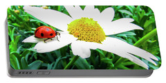 Daisy Flower And Ladybug Portable Battery Charger