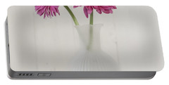 Portable Battery Charger featuring the photograph Gerbera Daisy Love by Kim Hojnacki