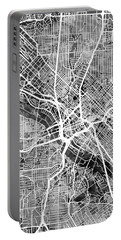 Dallas Texas City Map Portable Battery Charger