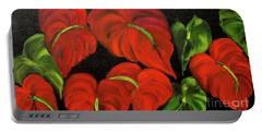 Dancing Anthuriums Portable Battery Charger by Jenny Lee