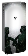 Portable Battery Charger featuring the digital art Dancing Silhouettes by Holly Ethan