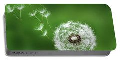Portable Battery Charger featuring the photograph Dandelion by Bess Hamiti