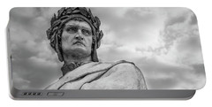 Dante Alighieri Portable Battery Charger by Sonny Marcyan