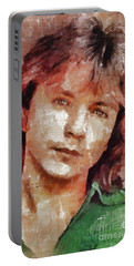 David Cassidy, Singer And Actor Portable Battery Charger by Mary Bassett