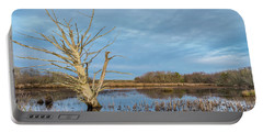 Dead Tree In Marsh Portable Battery Charger by Greg Nyquist