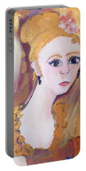 Deep In Thought  Portable Battery Charger by Judith Desrosiers