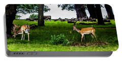 Deer In The Park Portable Battery Charger