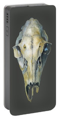 Deer Skull With Aura Portable Battery Charger by Catherine Twomey