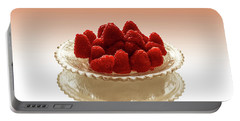 Delicious Raspberries Portable Battery Charger by David French