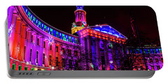 Denver City And County Building Holiday Lights Portable Battery Charger