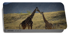 Desert Palm Giraffe 001 Portable Battery Charger