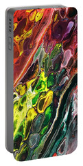 Portable Battery Charger featuring the painting Detail Of Auto Body Paint Technician 2 by Robbie Masso
