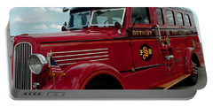 Detroit Fire Truck Portable Battery Charger