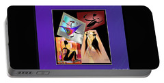 Portable Battery Charger featuring the digital art Digital Collage by Iris Gelbart