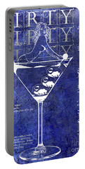 Dirty Dirty Martini Patent Blue Portable Battery Charger
