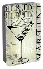Dirty Dirty Martini Patent Portable Battery Charger by Jon Neidert