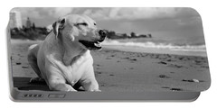 Dog - Monochrome 5  Portable Battery Charger