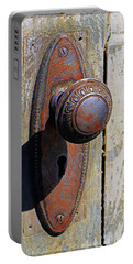 Portable Battery Charger featuring the photograph Door Knob by Christopher McKenzie