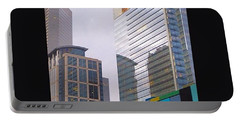 #downtown #houston From #discoverygreen Portable Battery Charger by Austin Tuxedo Cat