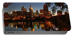 Downtown Minneapolis At Night Portable Battery Charger