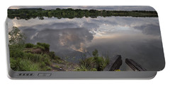 Portable Battery Charger featuring the photograph Dramatic Sunset by Melany Sarafis