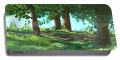 Dreaming On Fellows Lake Portable Battery Charger by Jan Bennicoff