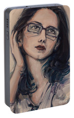 Portable Battery Charger featuring the painting Dreaming With Open Eyes by Olimpia - Hinamatsuri Barbu