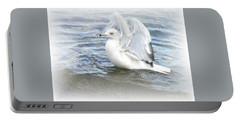 Dreamy Seagull Portable Battery Charger by Susan Dimitrakopoulos