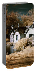 Portable Battery Charger featuring the photograph Duck Island Cottage by Helga Novelli