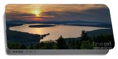 Dusk, Mooselookmeguntic Lake, Rangeley, Maine  -63362-63364 Portable Battery Charger