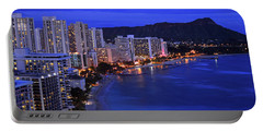 Dusk On Waikiki Portable Battery Charger