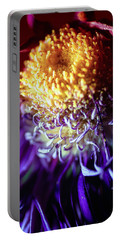 Dying Purple Chrysanthemum Flower Background Portable Battery Charger