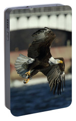Portable Battery Charger featuring the photograph Eagle Flight by Coby Cooper