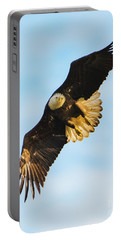 Portable Battery Charger featuring the photograph Eagle Stare Down by Jeff at JSJ Photography