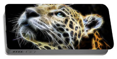 Electric Leopard Wall Art Collection Portable Battery Charger by Marvin Blaine