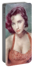 Elizabeth Taylor By John Springfield Portable Battery Charger