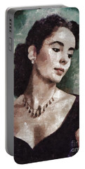 Elizabeth Taylor By Mary Bassett Portable Battery Charger